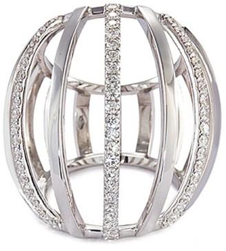 Dauphin Diamond 18k white gold cage ring
