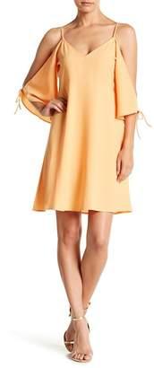 Symphony Cold Shoulder Bell Sleeve Dress