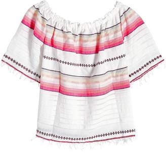Lemlem Printed Cotton Off-Shoulder Top