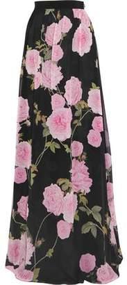 Giambattista Valli Floral-Print Silk Crepe De Chine Maxi Skirt