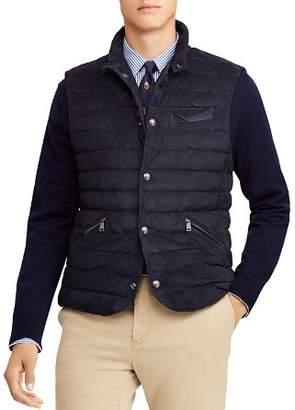 Polo Ralph Lauren Walbrook Quilted Suede Vest