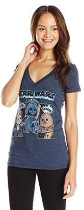 Star Wars Juniors' Cartoon Vader Chewie Luke Skywalker Graphic T-Shirt