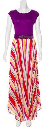 Alice + Olivia Plissé Maxi Dress w/ Tags