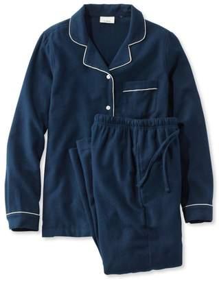 L.L. Bean L.L.Bean Scotch Plaid Flannel Pajamas, Solid