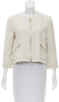 Max & Co. MAX&Co. Collarless Zip-Up Jacket