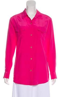Lilly Pulitzer Long Sleeve Silk Blouse
