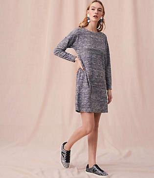 Lou & Grey Marled Drop Shoulder Dress