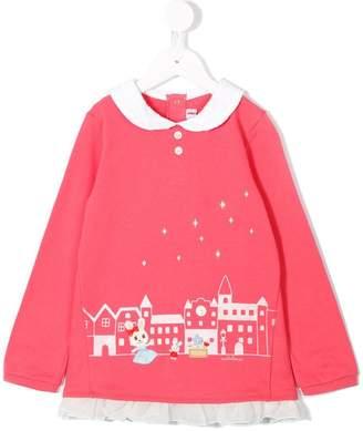 Mikihouse Miki House long-sleeve embellished T-shirt