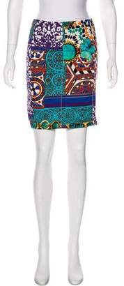 Blumarine Printed Mini Skirt
