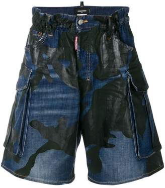 DSQUARED2 mid-rise printed shorts