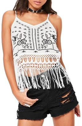 Women's Missguided Embroidered Crop Top $58 thestylecure.com