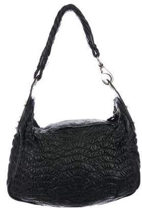 Versace Leather Hobo Bag