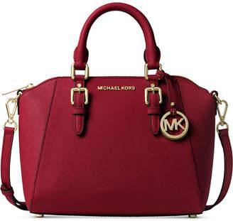 Michael Kors Ciara Small Saffiano Leather Satchel