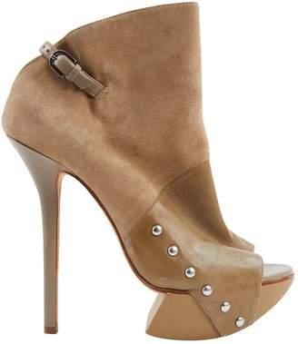 Camilla Skovgaard Khaki Suede Ankle boots
