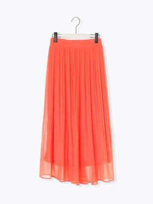 Melan Cleuge Women's 無地消しプリーツスカート