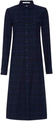 Replay Long tartan shirt dress