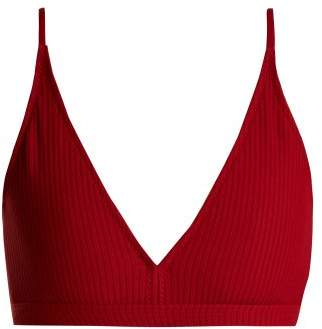 Made By Dawn - Valley Triangle Bikini Top - Womens - Red