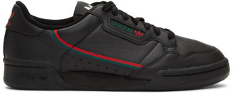 adidas Black and Red Continental 80 Sneakers