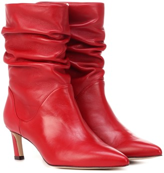 Stuart Weitzman Demibenatar leather ankle boots