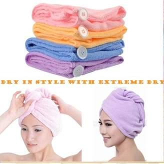 Beauty America New Women Microfiber Bath Towel Hair Dry Hat Cap Quick Drying Lady Bath Tool Hair Wrap- 8 Pack
