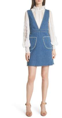 See by Chloe Denim Overall Dress