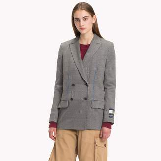 Tommy Hilfiger Houndstooth Double Breasted Tailored Jacket