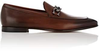 Salvatore Ferragamo Men's Boy Burnished Leather Loafers