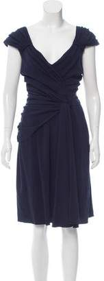Prada Gathered Midi Dress w/ Tags