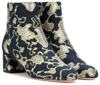 Aquazzura Exclusive to mytheresa.com Brooklyn 50 brocade ankle boots