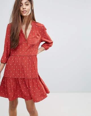 Whistles Maggie Fleur De Lis Print Dress $236 thestylecure.com