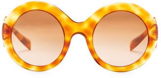 Dolce & Gabbana Women's Catwalk Round Acetate Frame Sunglasses $390 thestylecure.com