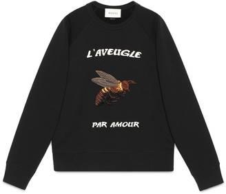 Cotton sweatshirt with bee appliqué $890 thestylecure.com