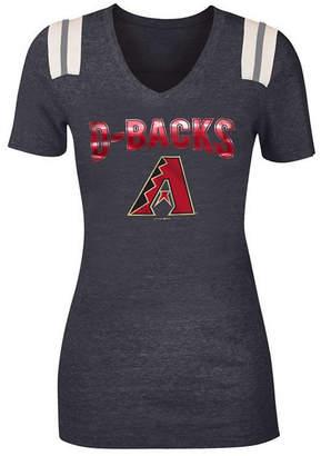 5th & Ocean Women's Arizona Diamondbacks Shoulder Stripe Foil T-Shirt