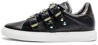 Zadig & Voltaire Women's ZV1747 Metal Buckled Leather Sneakers