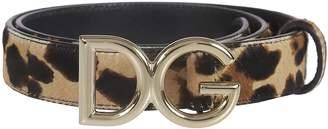 Dolce & Gabbana Leopard Coated Buckle Belt