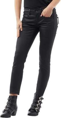 G Star G-STAR Womens Midge Cody Mid Waist Coated Skinny Jeans Rinsed