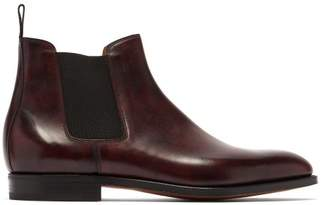 John Lobb Lawry Leather Chelsea Boots - Mens - Burgundy