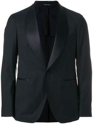 Tagliatore jacquard tuxedo blazer