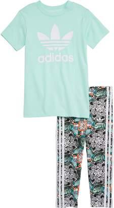 adidas Tee & Leggings Set