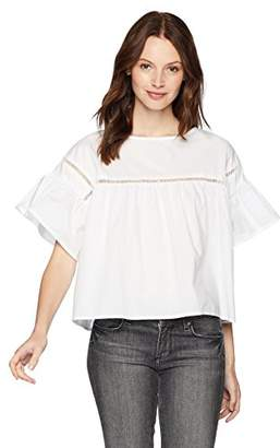 Serene Bohemian Women's Crop Top with Lace Detail