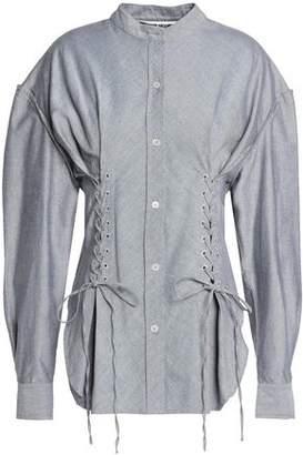 McQ Lace-Up Cotton Oxford Shirt