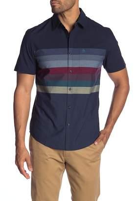 Original Penguin Engineered Horizontal Stripe Short Sleeve Heritage Slim Fit Shirt