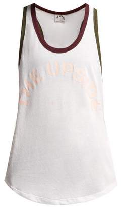 The Upside Saratoga Logo Print Tank Top - Womens - White Multi