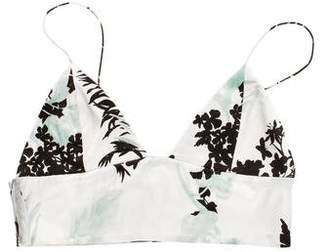 Adriana Iglesias Printed Silk Bralette