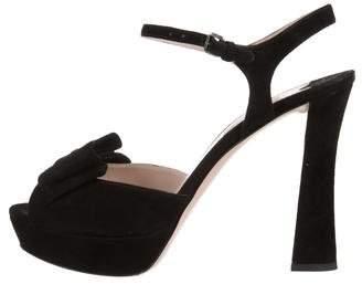 Miu Miu Platform Peep-Toe Sandals