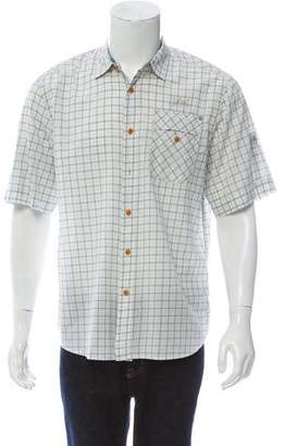 G Star Plaid Button-Up Shirt