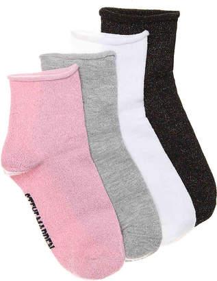 Steve Madden Lurex Crew Socks - 4 Pack - Women's