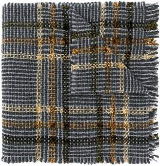 Faliero Sarti check knitted scarf