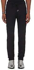 Wardrobe by TheSoloist WARDROBE BY THESOLOIST MEN'S RAW-EDGE COTTON JOGGER PANTS-BLACK SIZE XL
