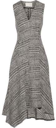 Jason Wu Asymmetric Wool-Jacquard Midi Dress